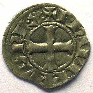 Numismatic foto  Münzen Französische königlische Münzen Philippe IV   (1285-1314) Duplessy 225   Denier Tournois à l'O long TTB/TTB+