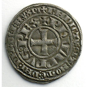 Numismatic foto  Münzen Französische königlische Münzen Philippe IV   (1285-1314) Duplessy 217   Gros Tournois à l'O long et au lis TTB