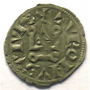 Numismatic foto  Münzen Französische königlische Münzen Philippe IV   (1285-1314) Duplessy 223   Denier Tournois à l'O rond TTB+