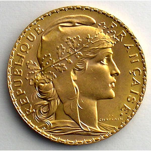 Numismatic foto  Münzen Gold & Silber 20 Francs or - Napoléons type Marianne millésimes divers   (6,45 g or 900 mill.)    SUP/FDC