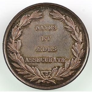 Numismatic foto  Münzen Jetons und Medaillen Numismatik der Versicherungsgesellschaften Securitas Antverpia Jeton rond en argent   30mm   1819   Anvers    TTB+