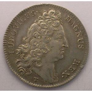 Numismatic foto  Münzen Jetons und Medaillen Jetons des alten Regims Extraordinaire des Guerres jeton rond en argent   Louis XIV   1712    TTB