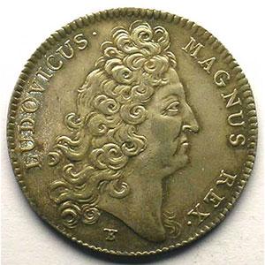 Numismatic foto  Münzen Jetons und Medaillen Jetons des alten Regims Ordinaire des Guerres jeton rond en argent   Louis XIV   1714    SUP
