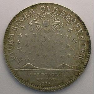 Numismatic foto  Münzen Jetons und Medaillen Jetons des alten Regims Secrétaires du Roi jeton rond en argent   Louis XV   1715    TB+/TTB