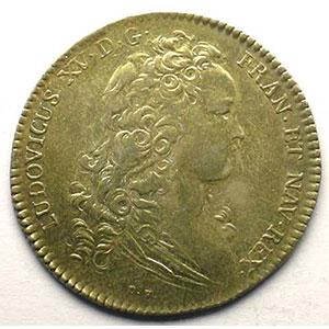 Numismatic foto  Münzen Jetons und Medaillen Jetons des alten Regims Ordinaire des Guerres jeton rond en argent   Louis XV   1715    TTB