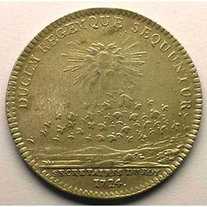 Numismatic foto  Münzen Jetons und Medaillen Jetons des alten Regims Secrétaires du Roi jeton rond en argent   Louis XV   1724    TTB/TTB+