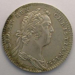 Numismatic foto  Münzen Jetons und Medaillen Jetons des alten Regims Secrétaires du Roi jeton rond en argent   Louis XV   1724    TTB