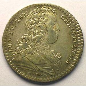 Numismatic foto  Münzen Jetons und Medaillen Jetons des alten Regims Extraordinaire des Guerres jeton rond en argent   Louis XV   1728    TTB
