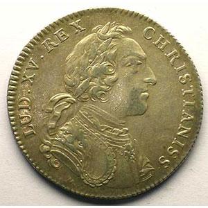 Numismatic foto  Münzen Jetons und Medaillen Jetons des alten Regims Secrétaires du Roi jeton rond en argent   Louis XV   1731    TTB