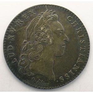 Numismatic foto  Münzen Jetons und Medaillen Jetons des alten Regims Secrétaires du Roi jeton rond en argent   Louis XV   1731    TTB+/SUP