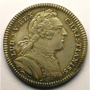 Numismatic foto  Münzen Jetons und Medaillen Jetons des alten Regims Secrétaires du Roi jeton rond en argent   Louis XV   1731    TTB+