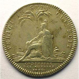 Numismatic foto  Münzen Jetons und Medaillen Jetons des alten Regims Ordinaire des Guerres jeton rond en argent   Louis XV   1739    TTB