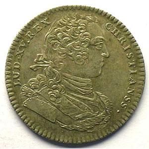 Numismatic foto  Münzen Jetons und Medaillen Jetons des alten Regims Ordinaire des Guerres jeton rond en argent   Louis XV   1739    TTB+