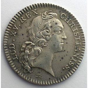 Numismatic foto  Münzen Jetons und Medaillen Jetons des alten Regims Ordinaire des Guerres jeton rond en argent   Louis XV   1741    TTB