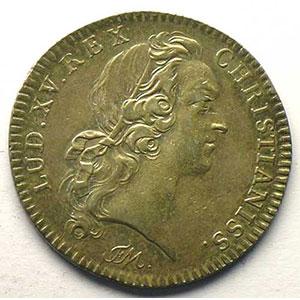 Numismatic foto  Münzen Jetons und Medaillen Jetons des alten Regims Ordinaire des Guerres jeton rond en argent   Louis XV   1743    TTB