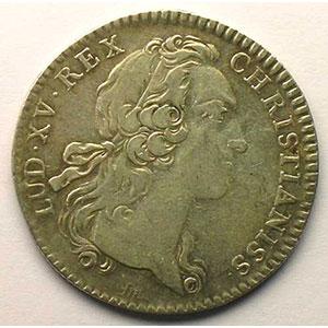 Numismatic foto  Münzen Jetons und Medaillen Jetons des alten Regims Ordinaire des Guerres jeton rond en argent   Louis XV   1755    TB+/TTB