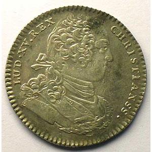 Numismatic foto  Münzen Jetons und Medaillen Jetons des alten Regims Artillerie jeton rond en argent   Louis XV   1755    TTB