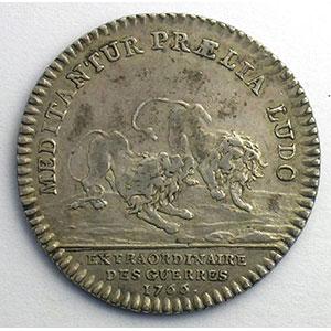 Numismatic foto  Münzen Jetons und Medaillen Jetons des alten Regims Extraordinaire des Guerres jeton rond en argent   Louis XV   1766    TTB