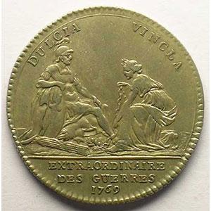 Numismatic foto  Münzen Jetons und Medaillen Jetons des alten Regims Extraordinaire des Guerres jeton rond en argent   Louis XV   1769    SUP