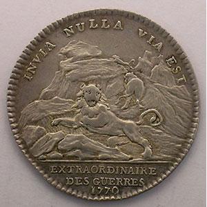 Numismatic foto  Münzen Jetons und Medaillen Jetons des alten Regims Extraordinaire des Guerres jeton rond en argent   Louis XV   1770    TTB/TTB+