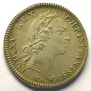 Numismatic foto  Münzen Jetons und Medaillen Jetons des alten Regims Artillerie et Génie jeton rond en argent   Louis XV    TTB+