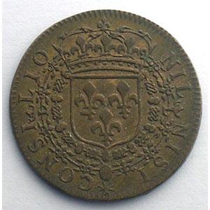 Numismatic foto  Münzen Jetons und Medaillen Jetons des alten Regims Conseil du Roi Jeton rond en cuivre module 25mm   Louis XIV    SUP