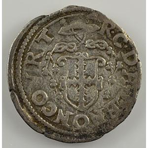 Numismatic foto  Münzen Lothringische Münzen Bistum von Metz Robert von Lenoncourt   (1551-1555) Bugne   Vic-sur-Seille    TB/TB+