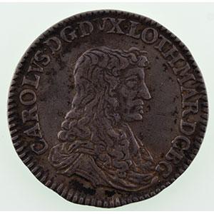 Numismatic foto  Münzen Lothringische Münzen Herzogtum von Lothringen Charles IV réintégré   (1661-1670) Demi-teston   1665  (Nancy)    TTB