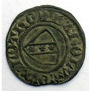Numismatic foto  Münzen Lothringische Münzen Herzogtum von Lothringen Charles II   (1390-1431) Denier   Sierck    TTB+
