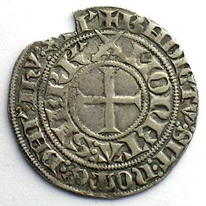 Numismatic foto  Münzen Lothringische Münzen Herzogtum von Lothringen Jean I   (1346-1390) Gros à l'Ecu de Lorraine   SIERCK    TB/TTB