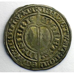 Numismatic foto  Münzen Lothringische Münzen Herzogtum von Lothringen Charles II   (1390-1431) Gros à l'écu heaumé   SIERCK    TTB