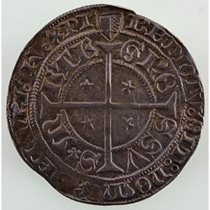 Numismatic foto  Münzen Lothringische Münzen Freie Stadt Metz Monnaies de la Cité Gros au Saint-Etienne agenouillé (début XV°s  - fin du XVI°s)    TTB+