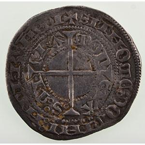 Numismatic foto  Münzen Lothringische Münzen Herzogtum von Bar René I   1ère période   (1424-1431) Gros   Saint-Mihiel    TB+/TTB