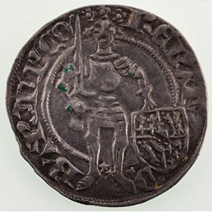 Numismatic foto  Münzen Lothringische Münzen Herzogtum von Bar René I   1ère période   (1424-1431) Gros   Saint-Mihiel    TTB+