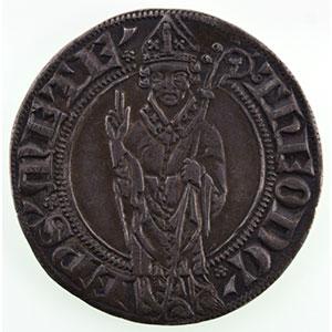 Numismatic foto  Münzen Lothringische Münzen Bistum von Metz Thierry V de Boppart   (1365-1384) Gros    TTB+