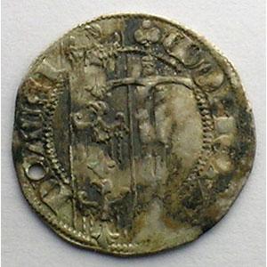 Numismatic foto  Münzen Lothringische Münzen Herzogtum von Lothringen Ferri IV   (1312-1329) Quart de Gros dit Spadin   Nancy    TTB percé