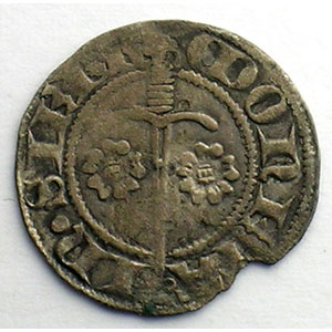 Numismatic foto  Münzen Lothringische Münzen Herzogtum von Lothringen Jean I   (1346-1390) Quart de Gros   SIERCK    TB+/TTB