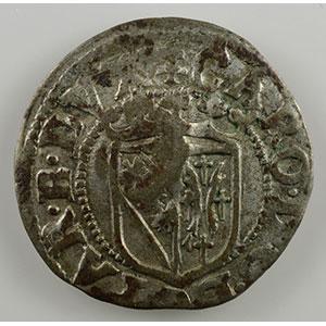 Numismatic foto  Münzen Lothringische Münzen Herzogtum von Lothringen Charles III   (1545-1608) Sol contremarqué d'un alérion    TTB