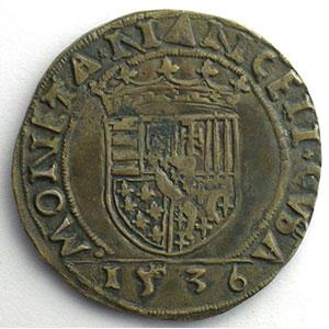 Numismatic foto  Münzen Lothringische Münzen Herzogtum von Lothringen Antoine   (1508-1544) Teston   1536    TTB+