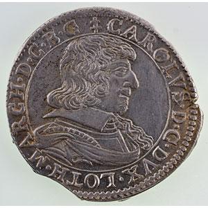 Numismatic foto  Münzen Lothringische Münzen Herzogtum von Lothringen Charles IV  maître en quelques places (1638-1639) Teston   1638 Remiremont    SUP/FDC