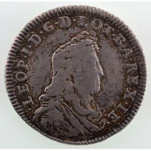 Numismatic foto  Münzen Lothringische Münzen Herzogtum von Lothringen Léopold I   (1690-1729) Teston   1702  flan neuf    TB+