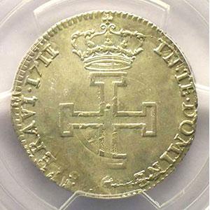 Numismatic foto  Münzen Lothringische Münzen Herzogtum von Lothringen Léopold I   (1690-1729) Teston 1711 flan réformé    PCGS-AU55    TTB+/SUP