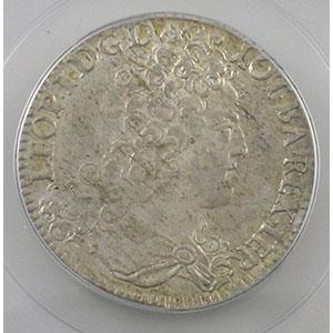 Numismatic foto  Münzen Lothringische Münzen Herzogtum von Lothringen Léopold I   (1690-1729) Teston 1713   flan neuf   PCGS-MS62    SUP/FDC