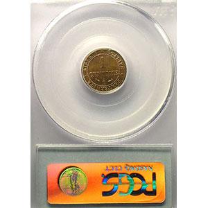 Numismatic foto  Münzen Münzen Frankreich 1793-1959 1 Centime G.88   Cérès 1884 A  (Paris)    PCGS-MS64RB    pr.FDC