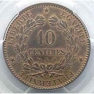 Numismatic foto  Münzen Münzen Frankreich 1793-1959 10 Centimes G.265   Cérès 1898 A  (Paris)    PCGS-MS63RB    SUP/FDC