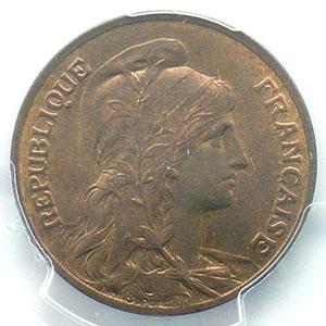 Numismatic foto  Münzen Münzen Frankreich 1793-1959 10 Centimes G.277   Dupuis 1906    PCGS-MS65RB    FDC