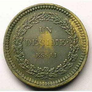 ND (1831-42) Essai tranche lisse    SUP