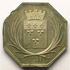 Orléans   jeton octogonal en argent    FDC