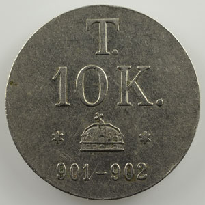 Poids monétaire du 10 Korona    SUP
