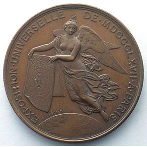 Ponscarme   Napoléon III   médaille en cuivre  37mm    SUP/FDC